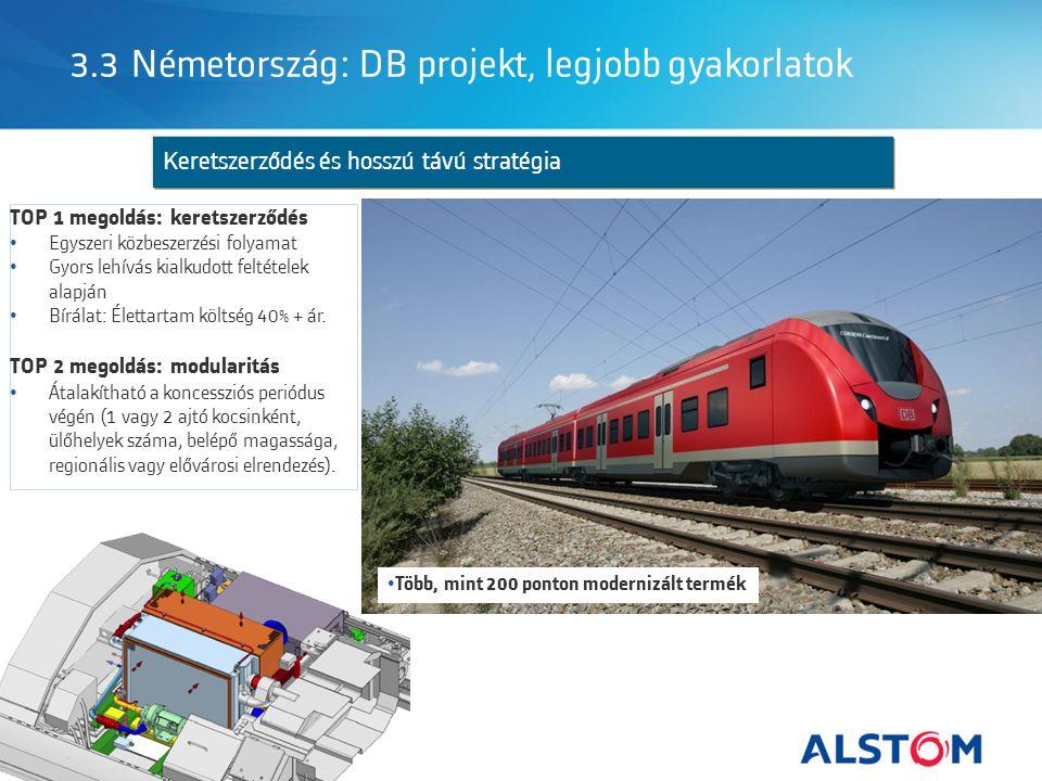 3.3 Németország: DB projekt, legjobb gyakorlatok