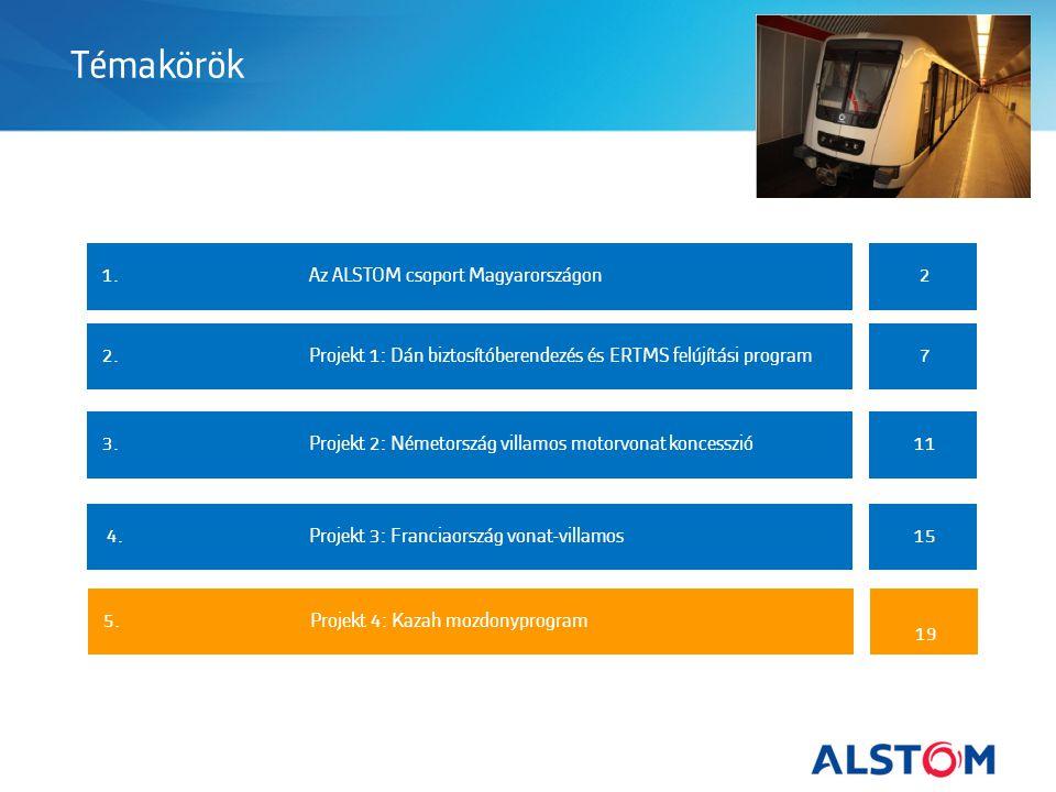 Témakörök 1. Az ALSTOM csoport Magyarországon 2