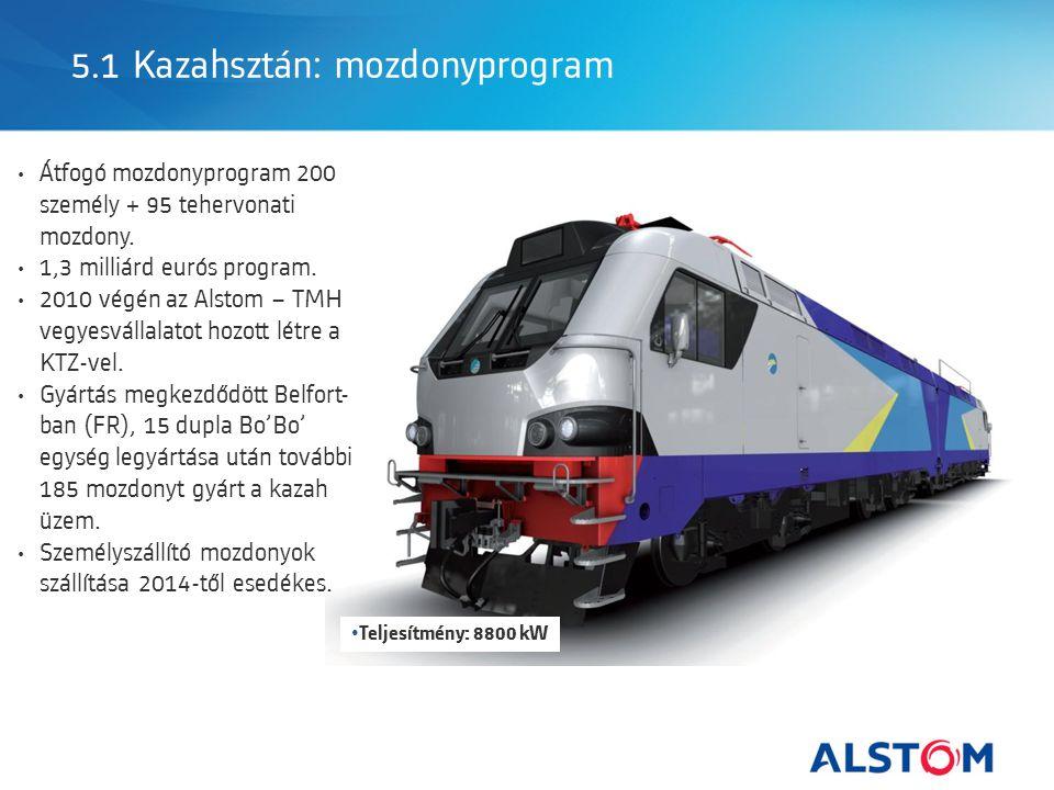 5.1 Kazahsztán: mozdonyprogram