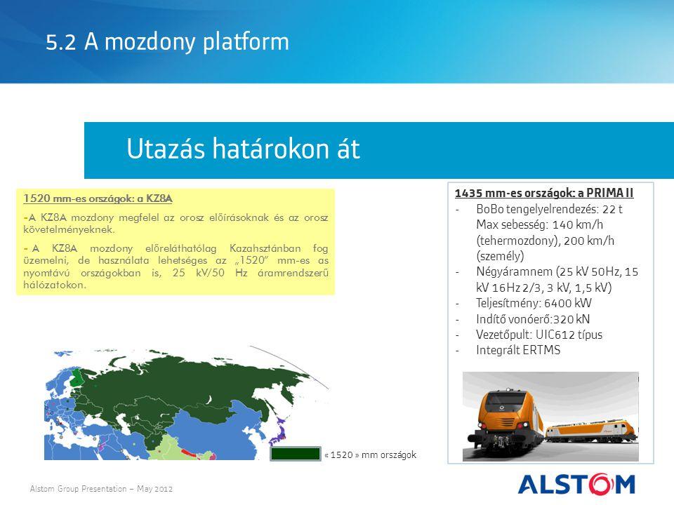 Utazás határokon át 5.2 A mozdony platform