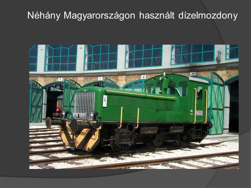 Néhány Magyarországon használt dízelmozdony