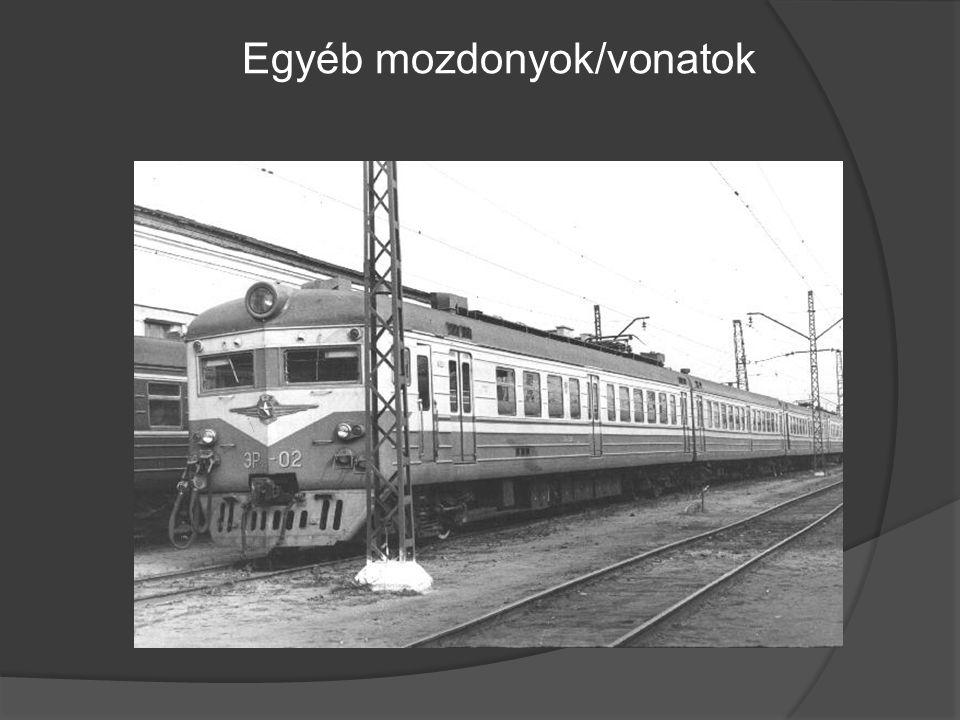 Egyéb mozdonyok/vonatok
