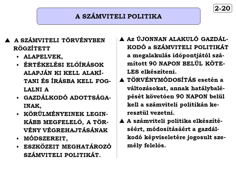 2-20 A SZÁMVITELI POLITIKA