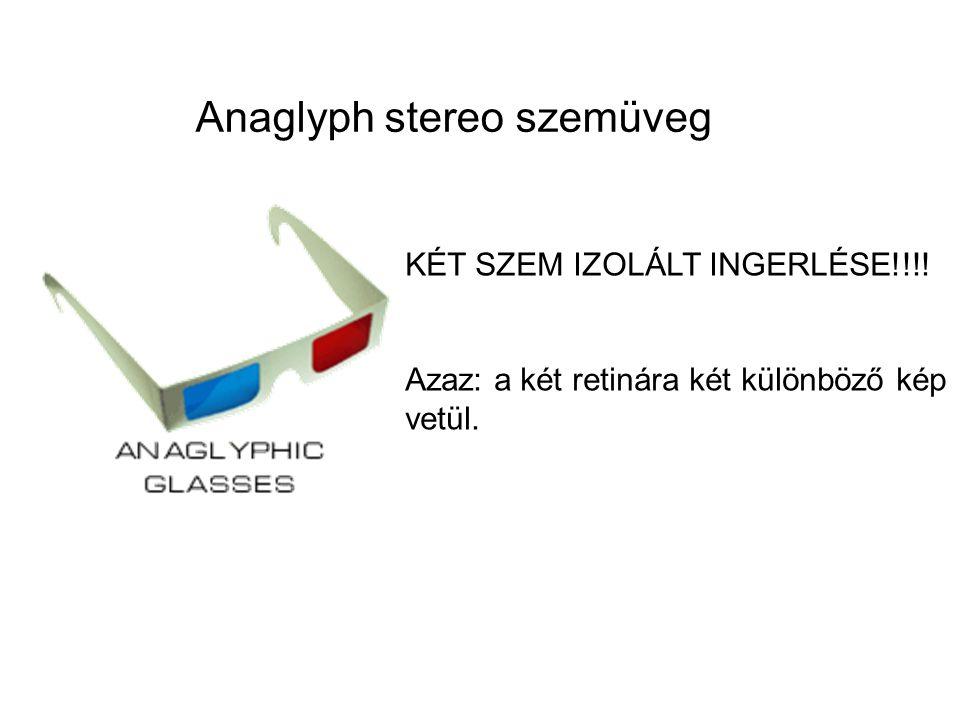Anaglyph stereo szemüveg