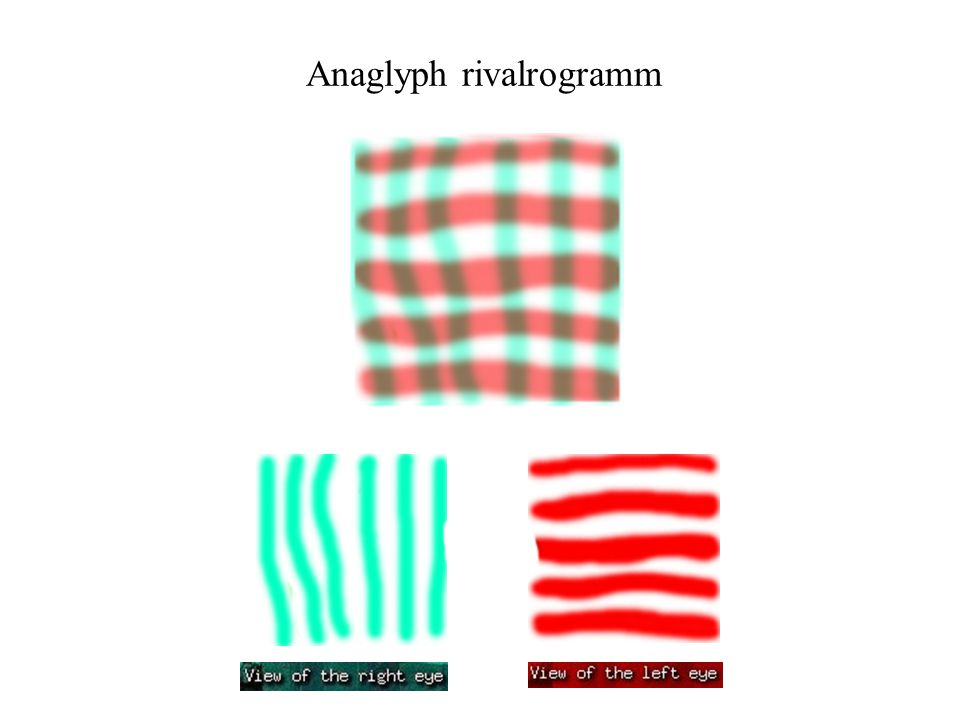 Anaglyph rivalrogramm