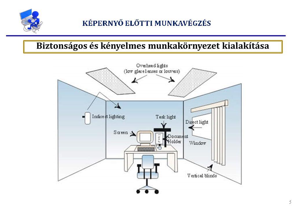 Biztonságos és kényelmes munkakörnyezet kialakítása
