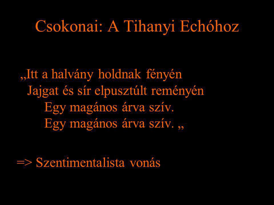 Csokonai: A Tihanyi Echóhoz