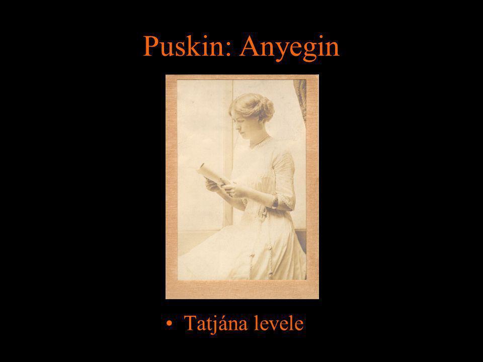 Puskin: Anyegin Tatjána levele