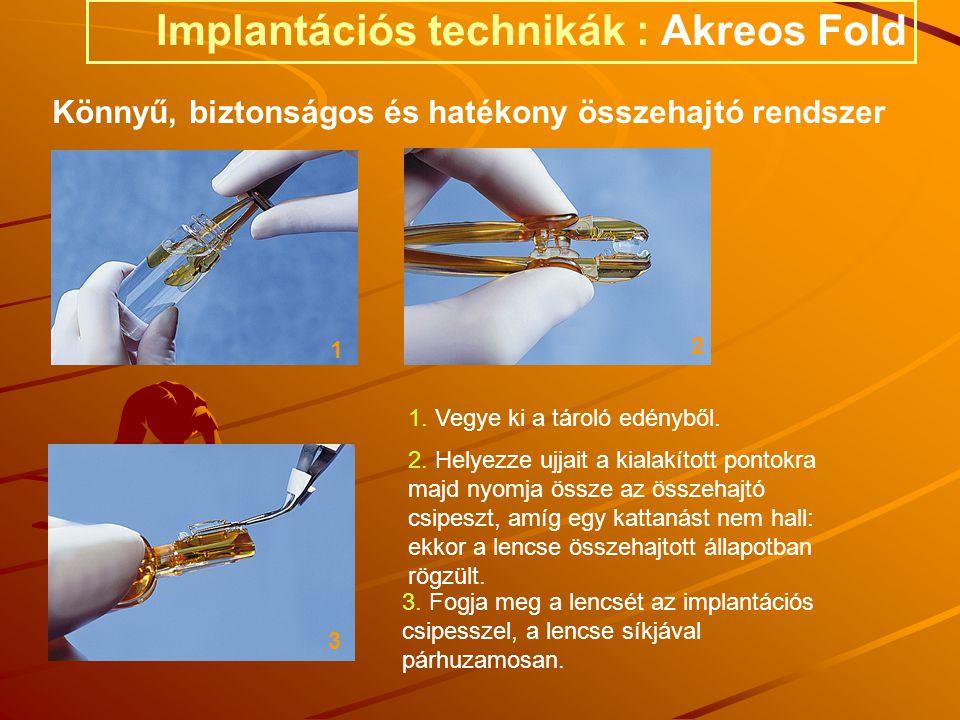 Implantációs technikák : Akreos Fold