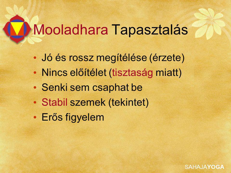 Mooladhara Tapasztalás