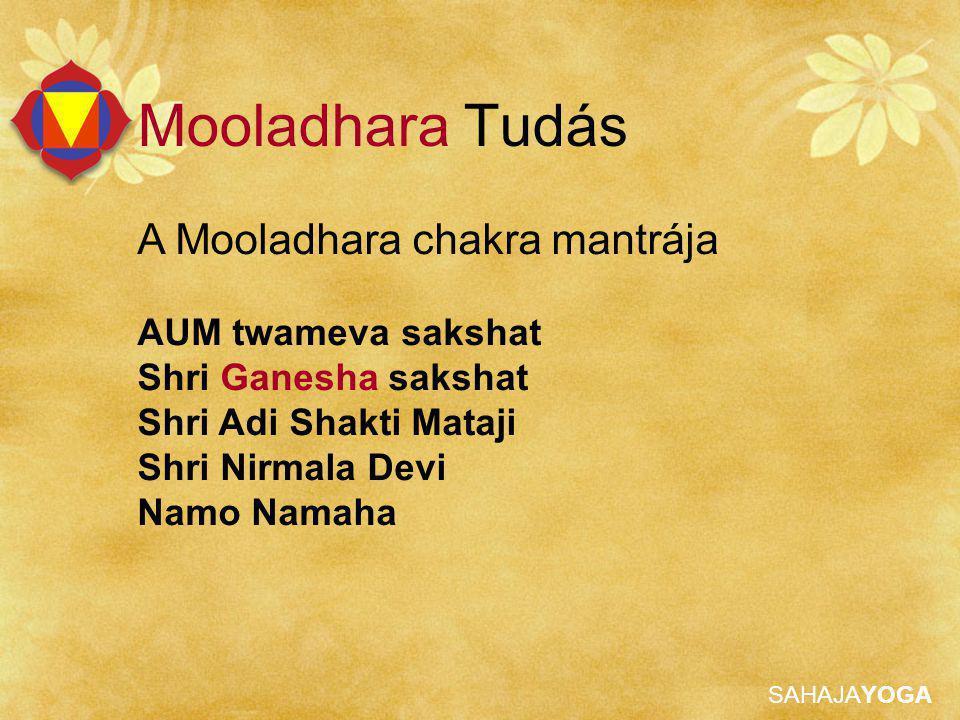 Mooladhara Tudás A Mooladhara chakra mantrája AUM twameva sakshat