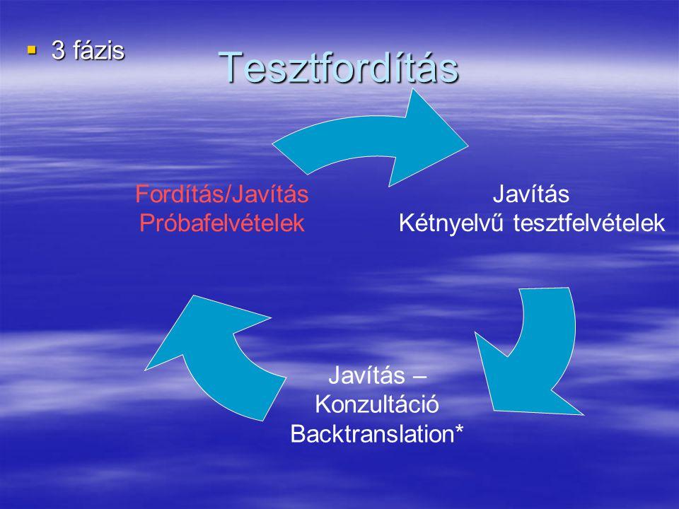 Tesztfordítás 3 fázis