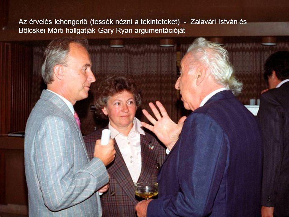 Az érvelés lehengerlő (tessék nézni a tekinteteket) - Zalavári István és