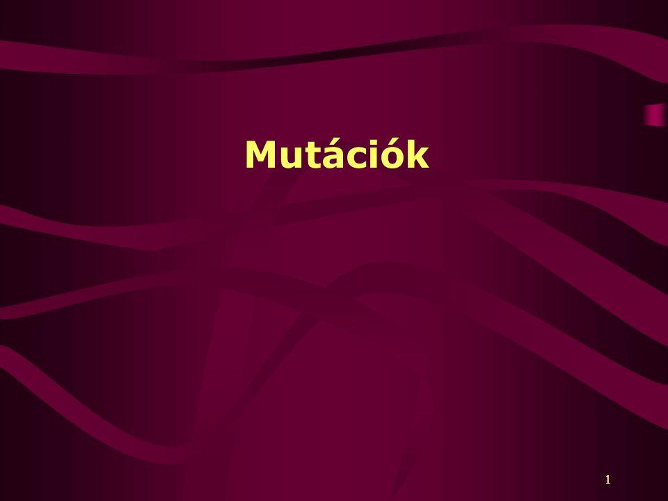 Mutációk