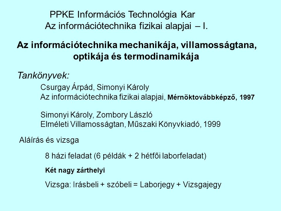 PPKE Információs Technológia Kar