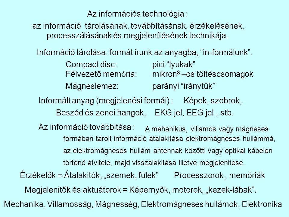 Az információs technológia :