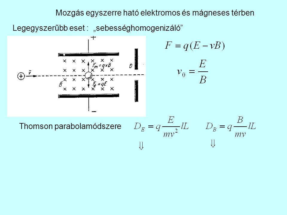 Mozgás egyszerre ható elektromos és mágneses térben