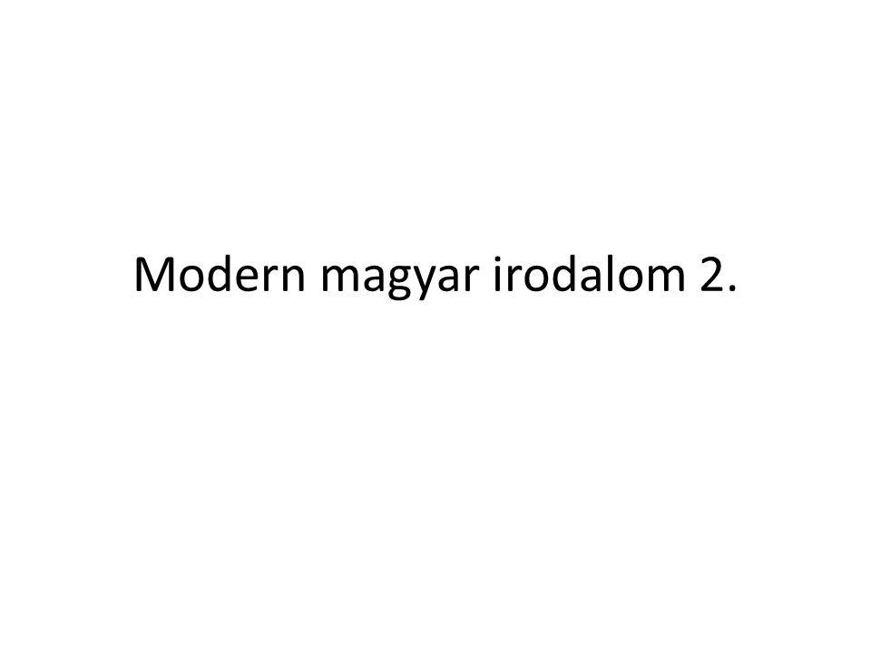 Modern magyar irodalom 2.