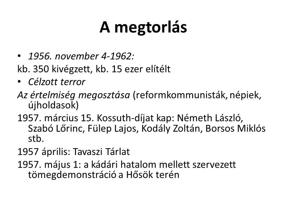 A megtorlás 1956. november 4-1962: