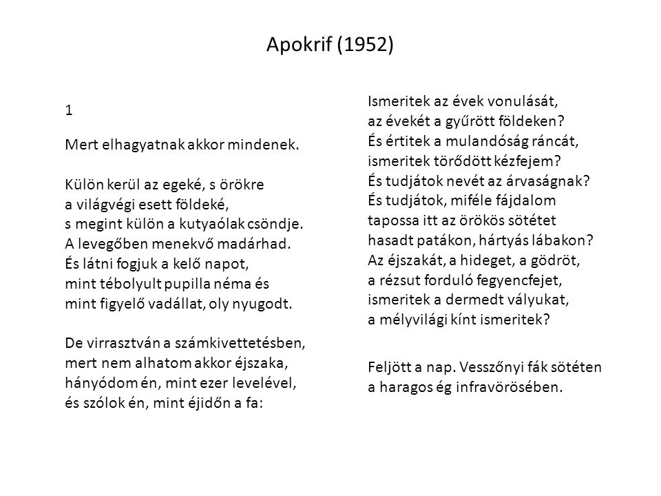 Apokrif (1952)