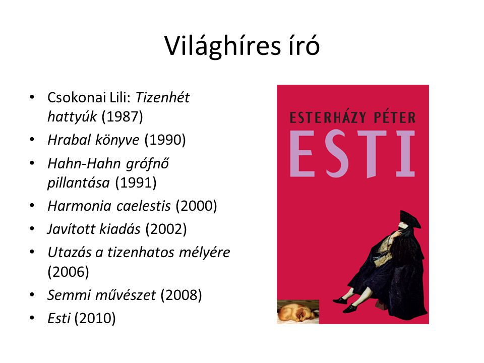 Világhíres író Csokonai Lili: Tizenhét hattyúk (1987)