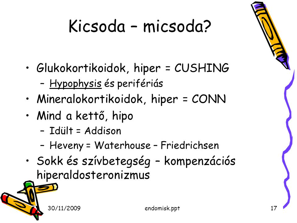 Kicsoda – micsoda Glukokortikoidok, hiper = CUSHING