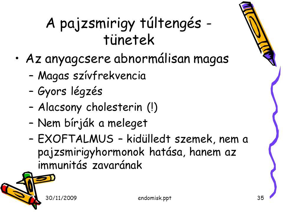A pajzsmirigy túltengés - tünetek