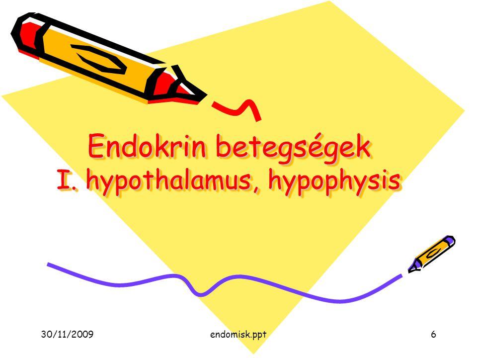 Endokrin betegségek I. hypothalamus, hypophysis