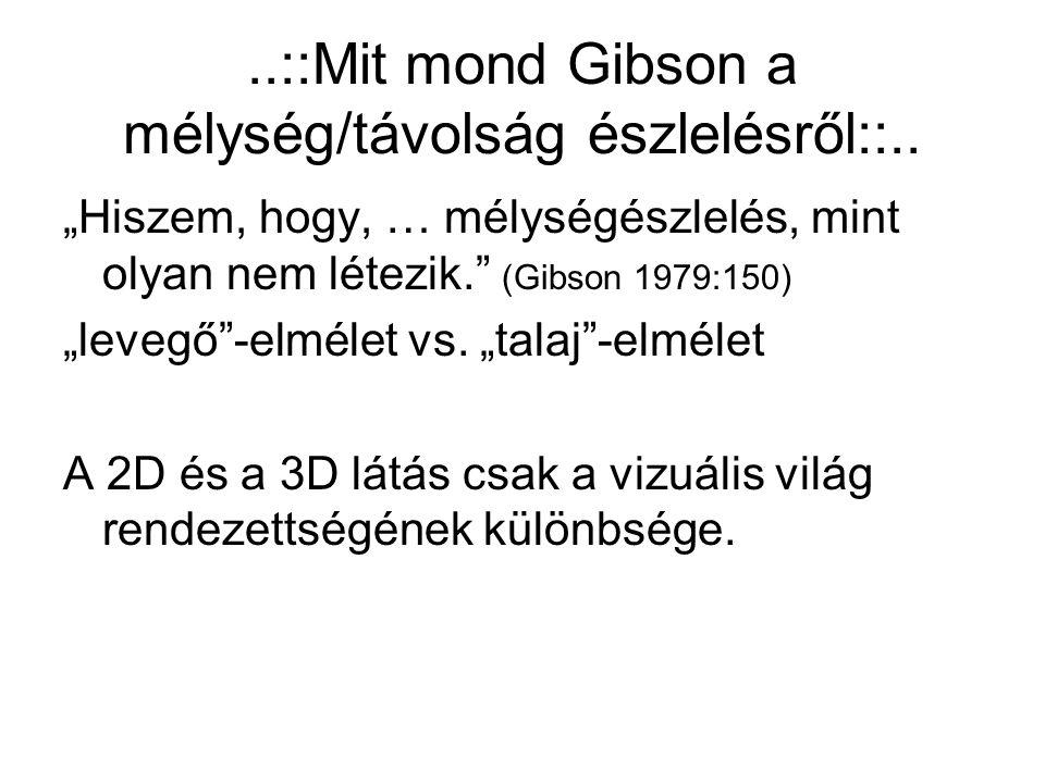 ..::Mit mond Gibson a mélység/távolság észlelésről::..