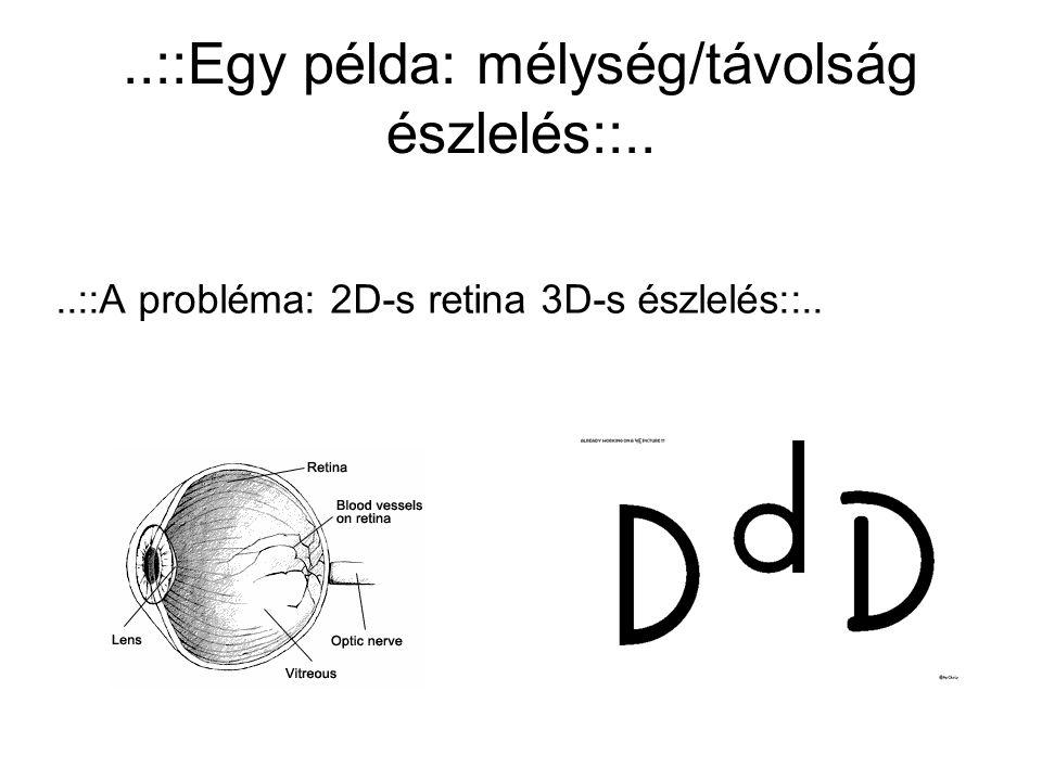 ..::Egy példa: mélység/távolság észlelés::..
