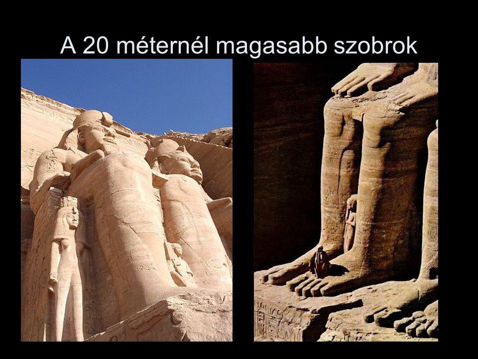 A 20 méternél magasabb szobrok
