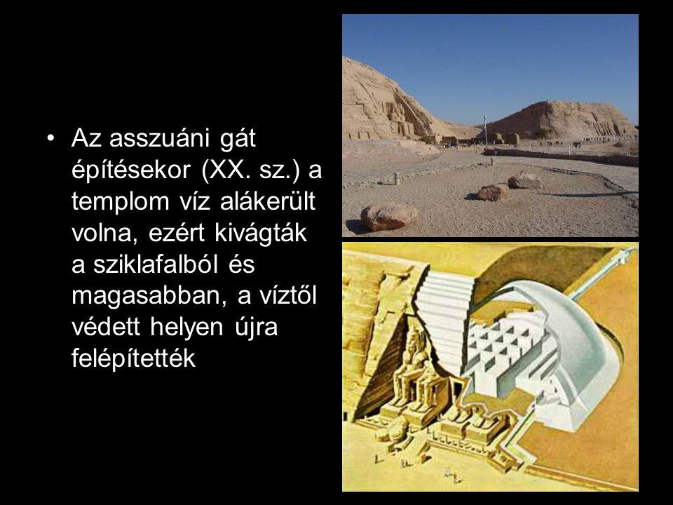 Az asszuáni gát építésekor (XX. sz