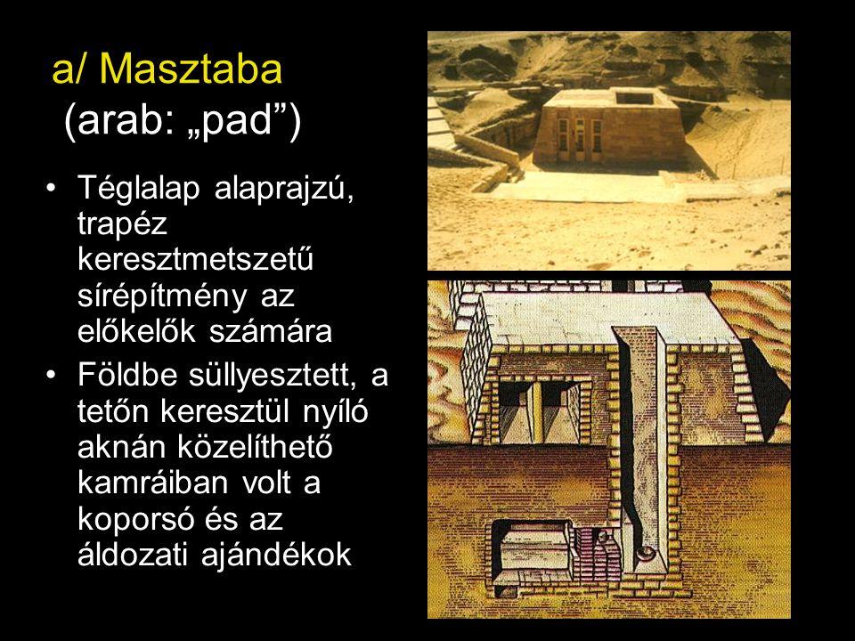 """a/ Masztaba (arab: """"pad )"""