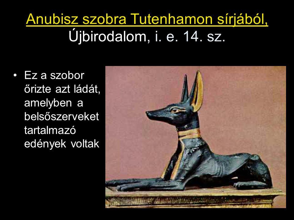 Anubisz szobra Tutenhamon sírjából, Újbirodalom, i. e. 14. sz.