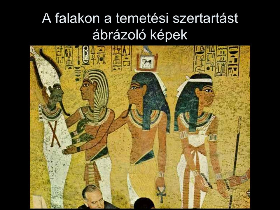 A falakon a temetési szertartást ábrázoló képek