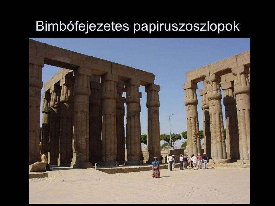 Bimbófejezetes papiruszoszlopok