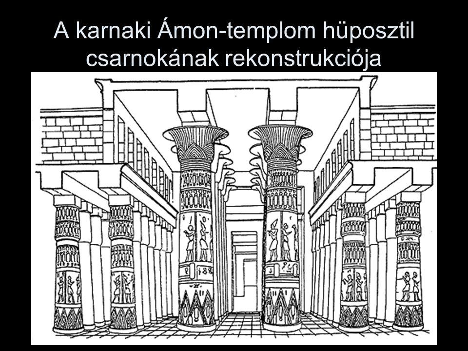 A karnaki Ámon-templom hüposztil csarnokának rekonstrukciója