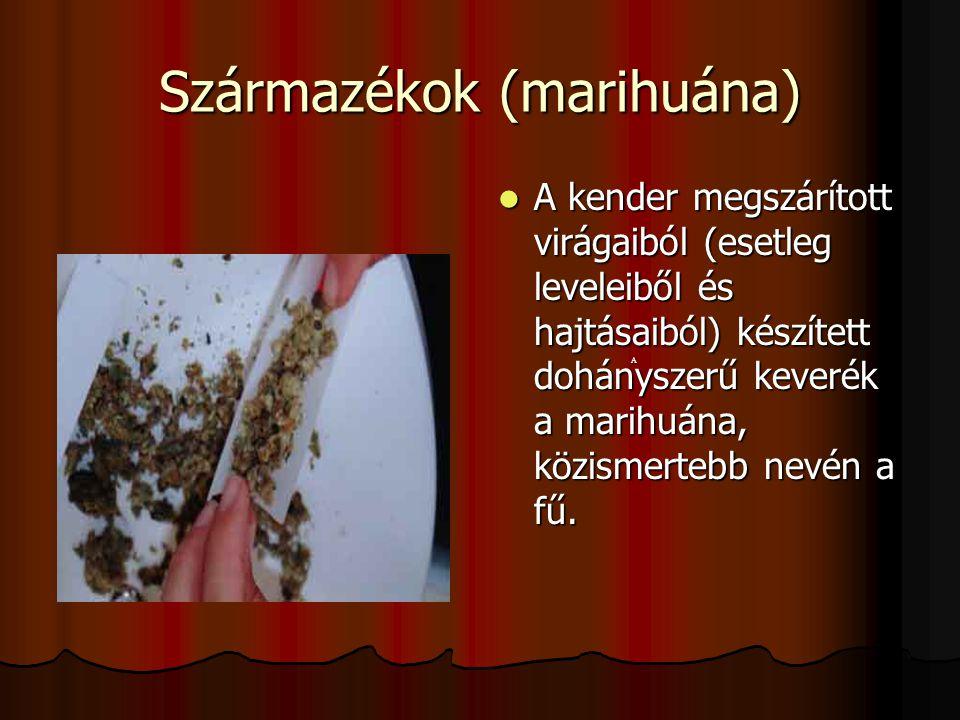 Származékok (marihuána)