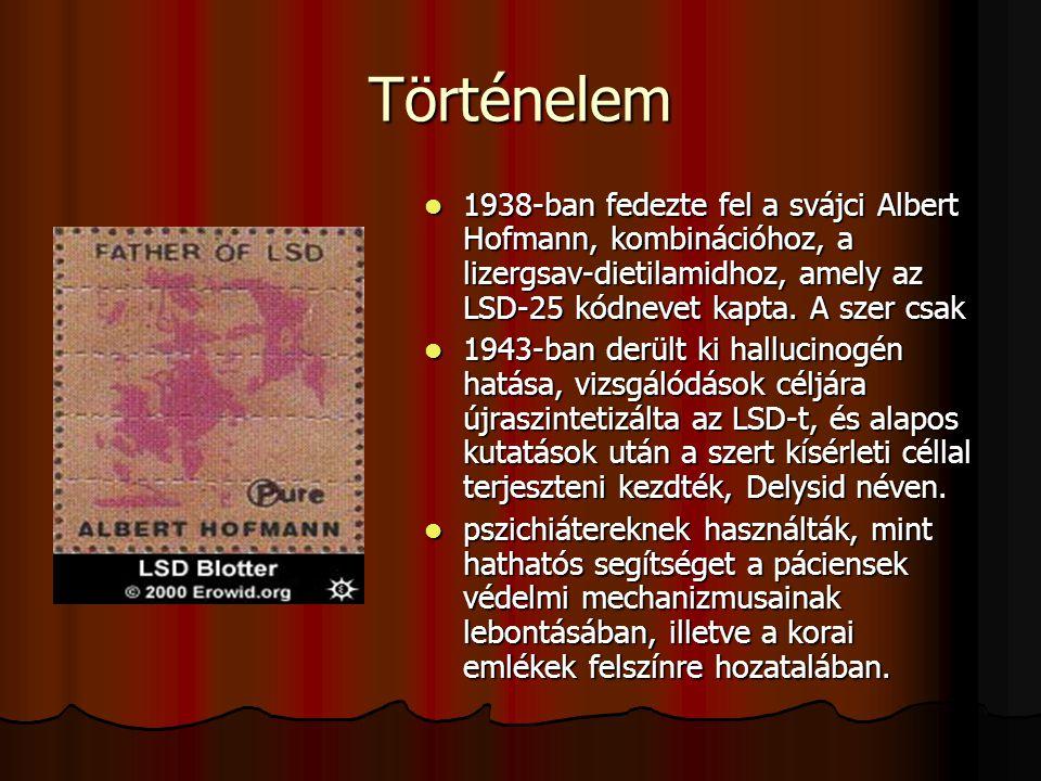 Albert Hoffmanról elnevezett LSD bélyegek