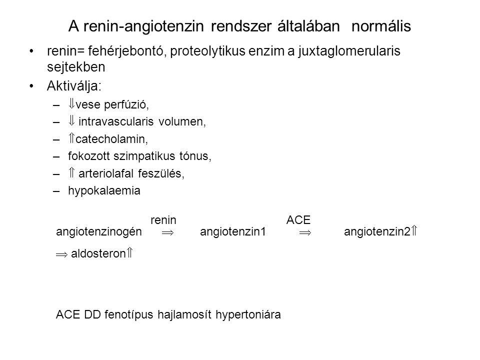 A renin-angiotenzin rendszer általában normális