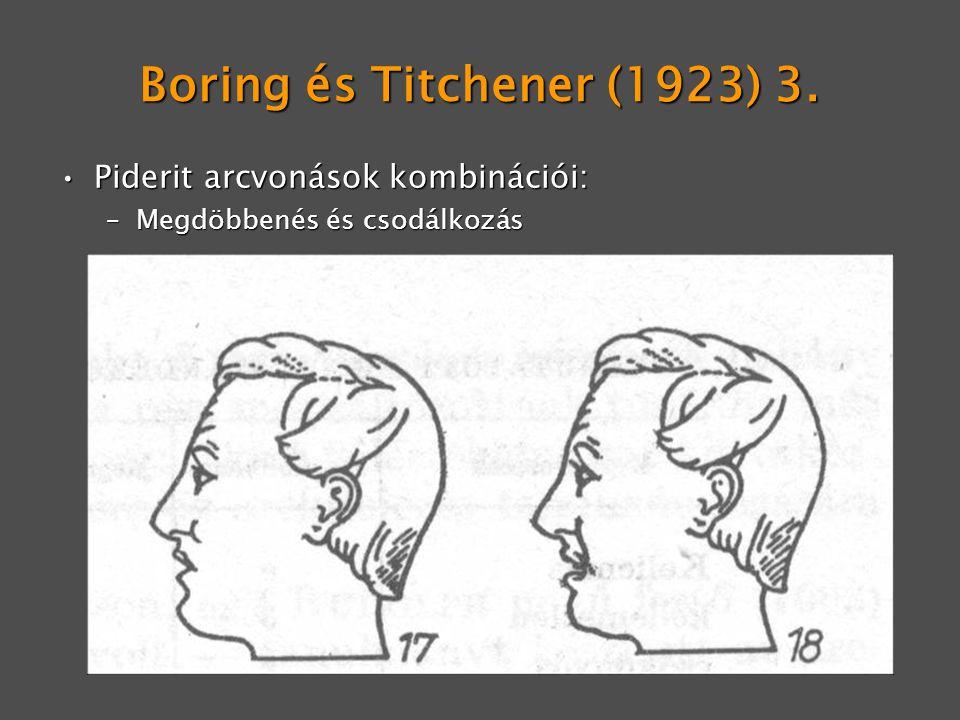 Boring és Titchener (1923) 3. Piderit arcvonások kombinációi: