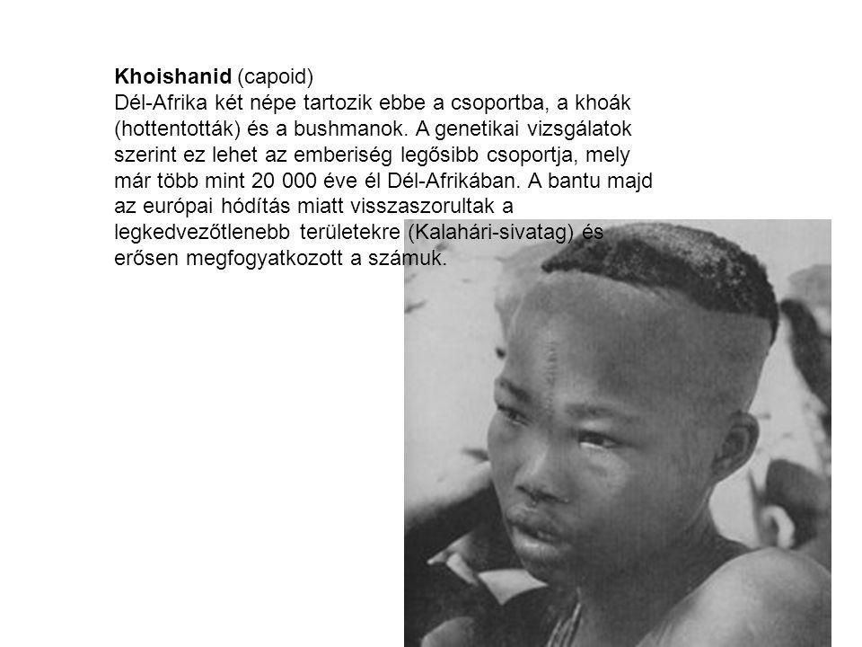 Khoishanid (capoid) Dél-Afrika két népe tartozik ebbe a csoportba, a khoák (hottentották) és a bushmanok.