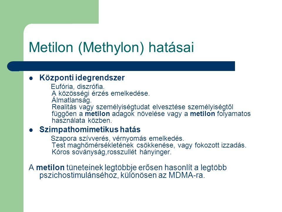 Metilon (Methylon) hatásai