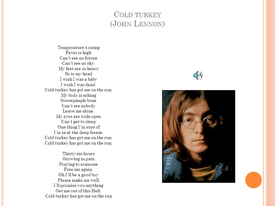 Cold turkey (John Lennon)