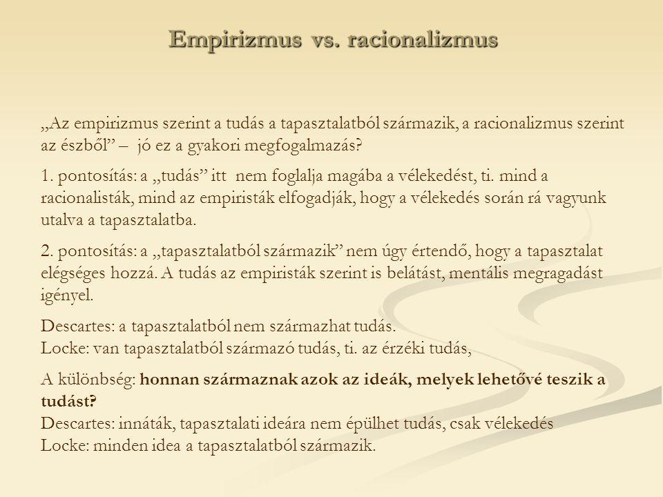 Empirizmus vs. racionalizmus