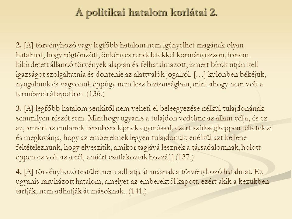 A politikai hatalom korlátai 2.