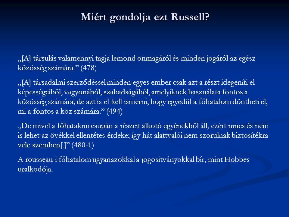 Miért gondolja ezt Russell