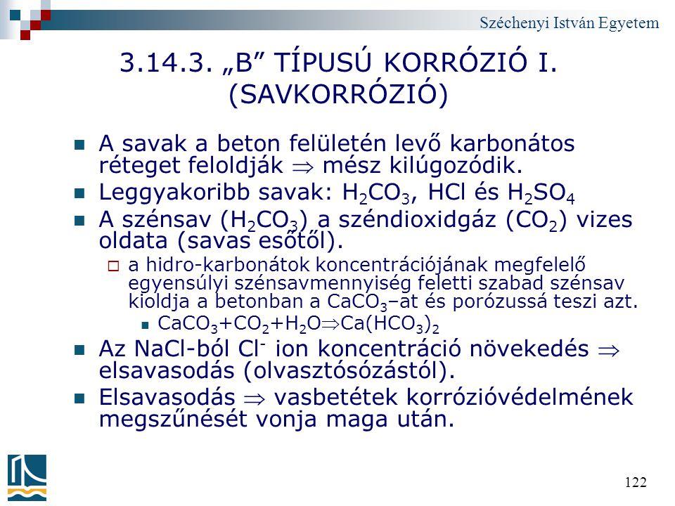 """3.14.3. """"B TÍPUSÚ KORRÓZIÓ I. (SAVKORRÓZIÓ)"""