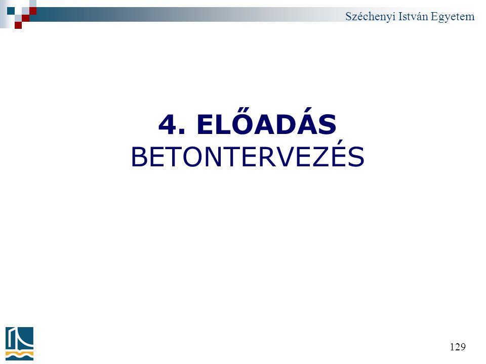 4. ELŐADÁS BETONTERVEZÉS