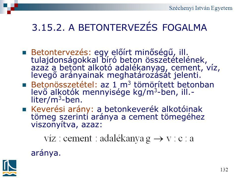 3.15.2. A BETONTERVEZÉS FOGALMA